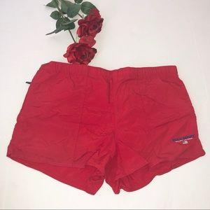 Men's Polo Sport Red Swim Trunks